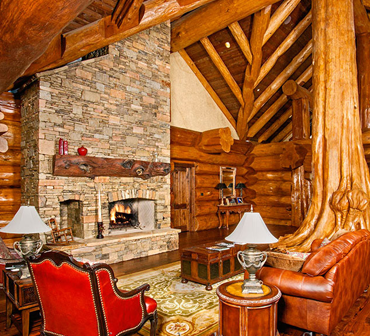 family rooms and fireplaces